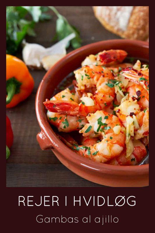 Lækker tapasopskrift på hvidløg i rejer måske også kendt som tapas gambes.